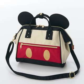 Japan Disney Mickey Mouse Black Pouch design Shoulder Bag