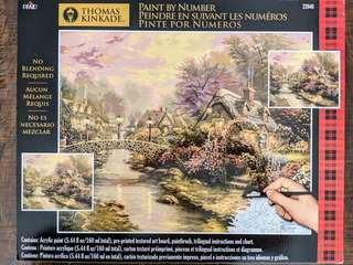 Brand New Plaid Paint by Numbers – Thomas Kinkade