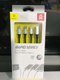 Baseus 3 in 1 Charging Cable