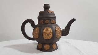 Rare antique Buddha motive teapot