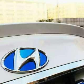 現代 Elantra 不鏽鋼車標貼 logo貼 預購款