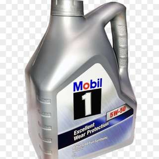 Brand New Mobil 1 Fully Synthetic Engine Oil, 5W-50 - 4 Litres