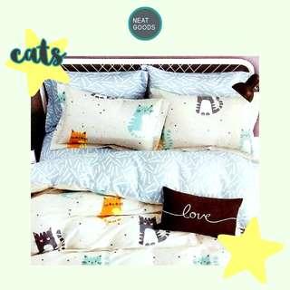Cats 3-pc Bedsheet Set