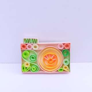 Refrigerator Magnets - Camera and Plant Vector