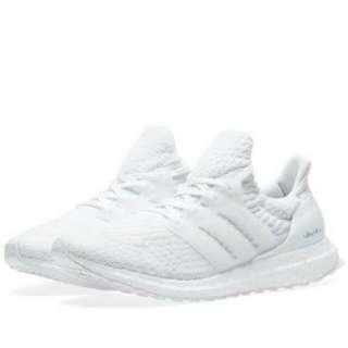White Adidas UltraBoost 3.0