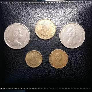 一網打盡 女皇頭 (一) 1978年 共5個幣