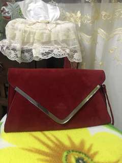 Red Clutch Party Bag