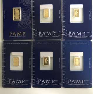 999 Pure Gold series - > bars, coins