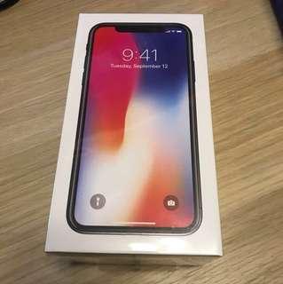 全場最平iphone X 黑色 256gb 全新未開封 iphone x