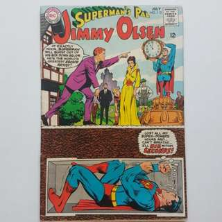 DC Comics Jimmy Olsen Superman's Pal 112  Fine Condition Silver Age Neal Adams Cover