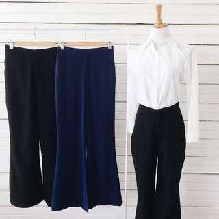 Flare Bell Pants (Dark Blue)