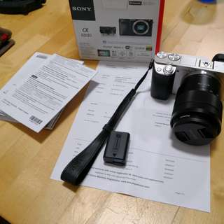 Sony a6000 emount camera body