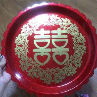 Wedding red plate