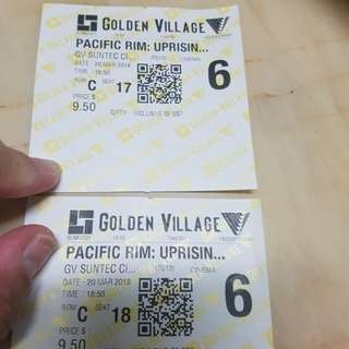 Pacific rim movie tickets