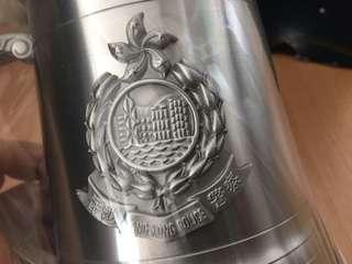 HK POLICE PEWTER TANKARD