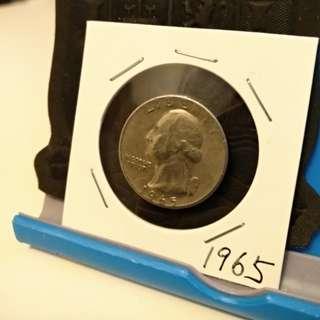 1965 Quarter dollar USA coin