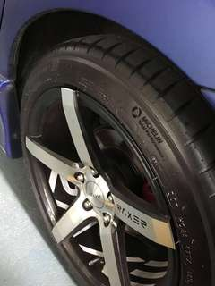 Dekit 17 inch rim with tyre
