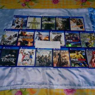 Kaset2 Ps4 Original di jual