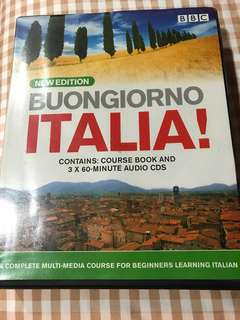 Bbc Buongiorno Italia complete italian beginners course book and Cds
