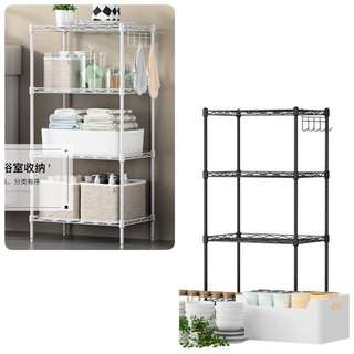 4Tiers white metal rack -take up to 100Kg