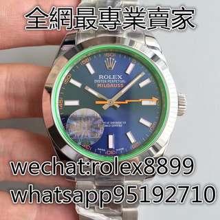 環亞  JF廠 ROLEX MILGAUSS 116400 GV 藍面 綠玻璃 3131機芯 39MM