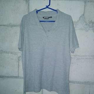 Plain gray polo shirt