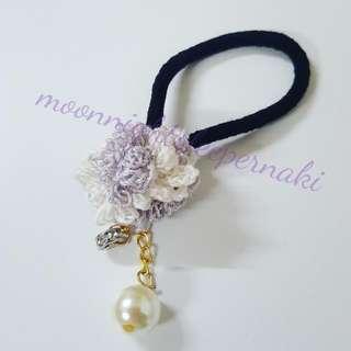 淺紫色繡球花橡筋