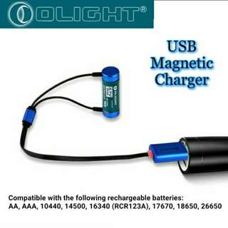 Olight Universal Magnetic USB Charger For Lithium and NiMh Batteries