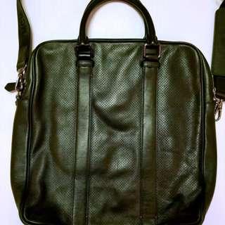 MCM men shoulder leather brief case