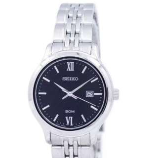 Preorder Seiko Classic Quartz Women's Silver Stainless Steel Bracelet Watch SUR707P1