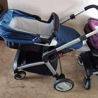 Mothercare roam stroller blue color
