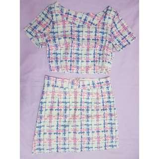 BNIB 2-pcs Printed Skirt Set