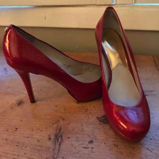 Michael Kors patent leather red heels