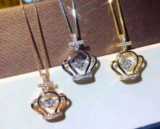 🔸獨家新品: 18k金皇冠鑽石項鍊 18k gold diamond necklace