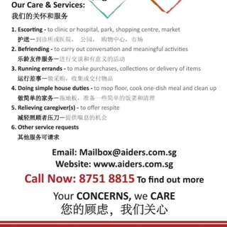 Elder care and services