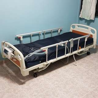 Hospital Bed (height adjustable).