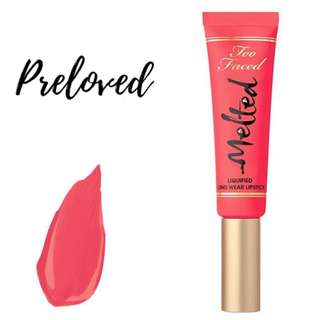 TOO FACED Melted Liquified Long Wear Lipstick | MELTED MELON