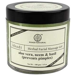 Khadi Aloevera, Neem and Basil Face Massage Gel, 100g