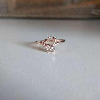 10k玫瑰金約4份鑽石戒指 介子 10號圈 4°c diamond gold ring 18k 14k