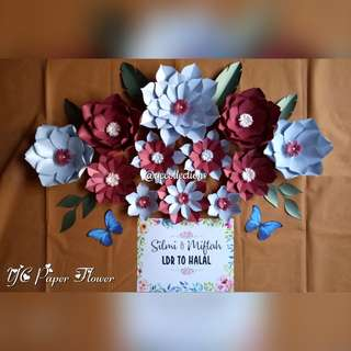 Paket Backdrop Paper Flower Photobooth - Paper Flower Paket Murah