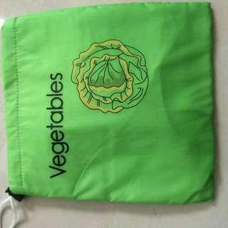 Drawstring reusable vegetable fresh pouch / kantong penyimpanan sayur tetap segar