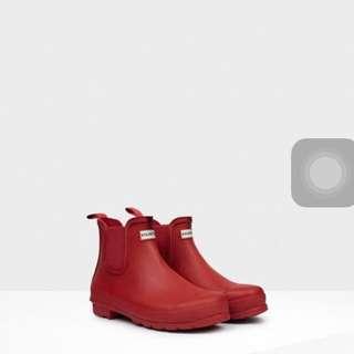 🚚 Hunter短靴 Uk4 紅