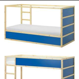 Ikea Kura double decker bed in blue