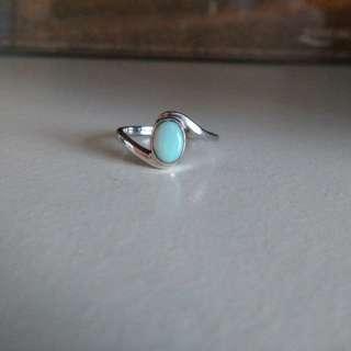 925純銀蛋白石 澳寶 歐泊 戒指 介子 12號圈 opal silver ring