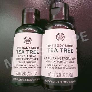The Body Shop Tea Tree skin clearing mattfying toner + skin clearing facial wash