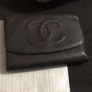 Chanel Trifold Caviar Wallet