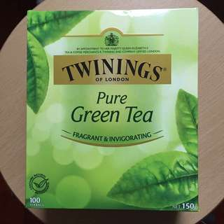 Twinings Pure green tea 100 送金莎