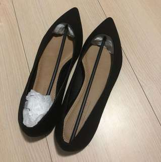🚚 ASOS 黑色平底鞋UK4.5