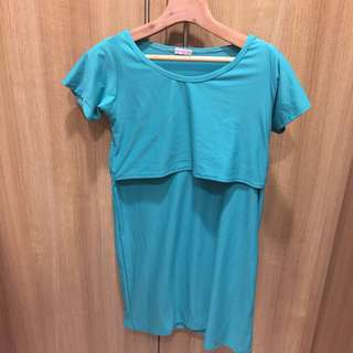 Short nursing dress / long nursing shirt