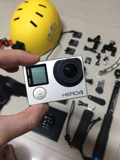 Gopro Hero 4 with accessories (Slightly negotiable)